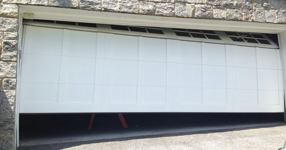 Broken garage door repairs Newport
